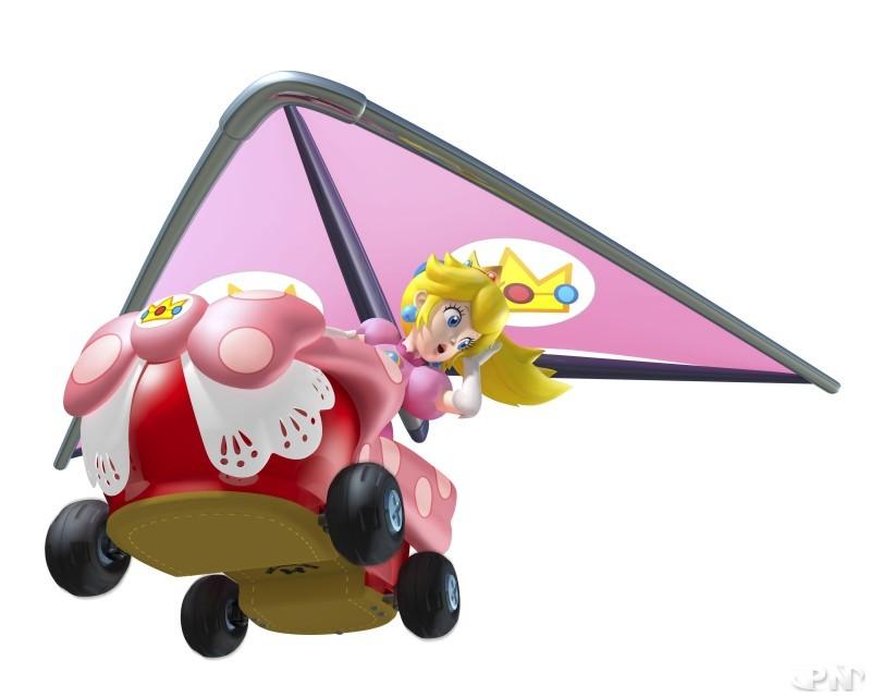 Mario Kart 7 : Mario, Peach, Donkey et items