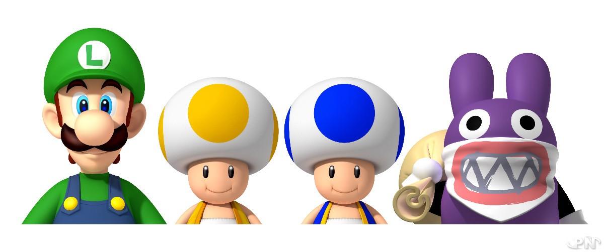 Le mode multijoueurs permet de contrôler Luigi, Carottin ou les deux Toad.