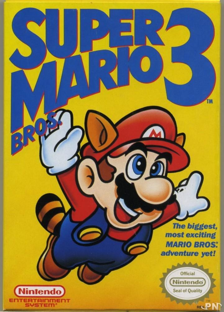 Impression initiale de la jaquette américaine de Super Mario Bros 3 sur NES