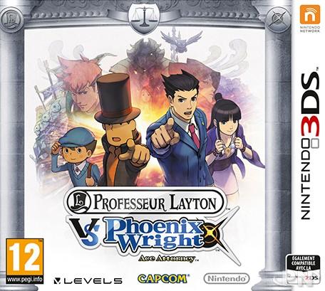 Jaquerre du jeu 3DS Professeur Layton vs. Phoenix Wright : Ace Attorney
