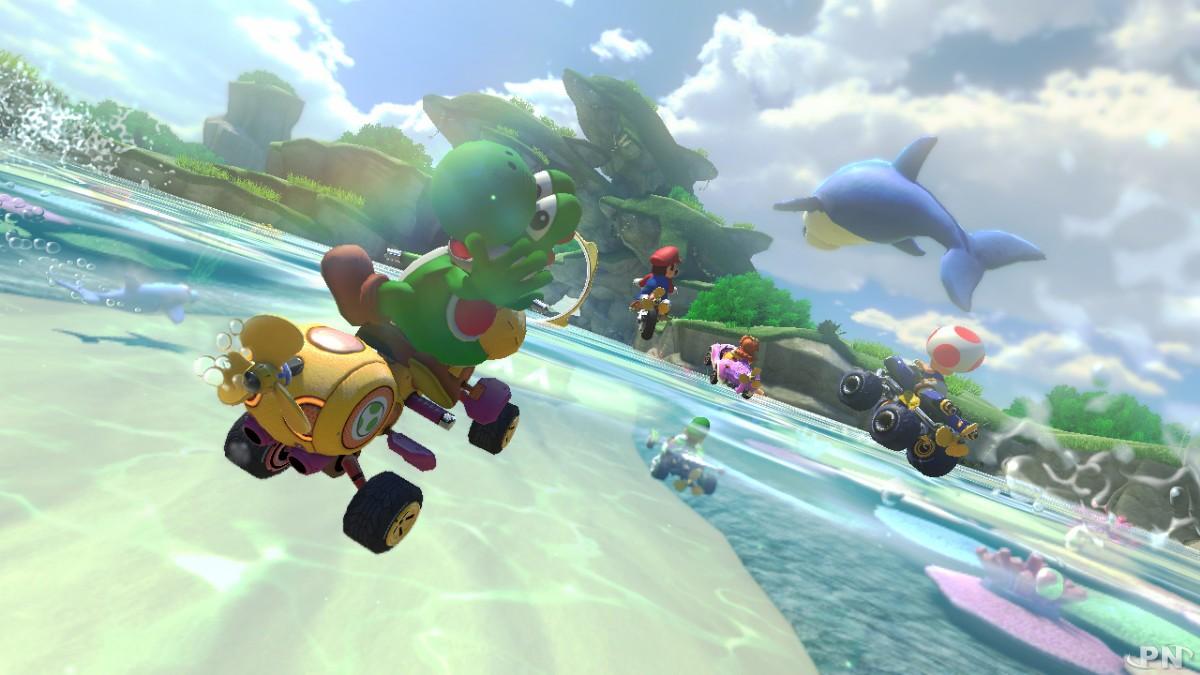 Yoshi est évidemment présent dans ce nouveau Mario Kart 8