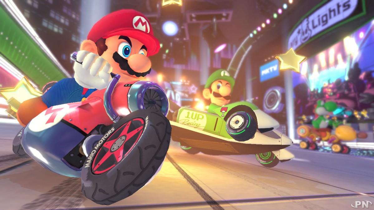 Mario Kart 8 : Mario à moto