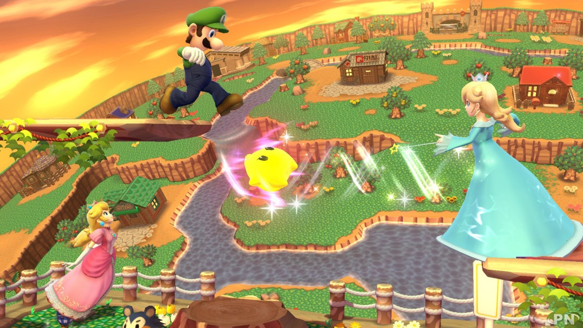 Harmonie, Luigi et Peach prêts au combat - Smash Bros Wii U