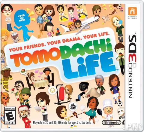 Boîte de Tomodachi Life sur 3DS (jaquette américaine)