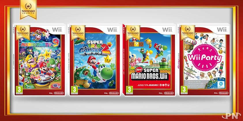 Wii : 4 nouveaux jeux dans la gamme Nintendo Selects