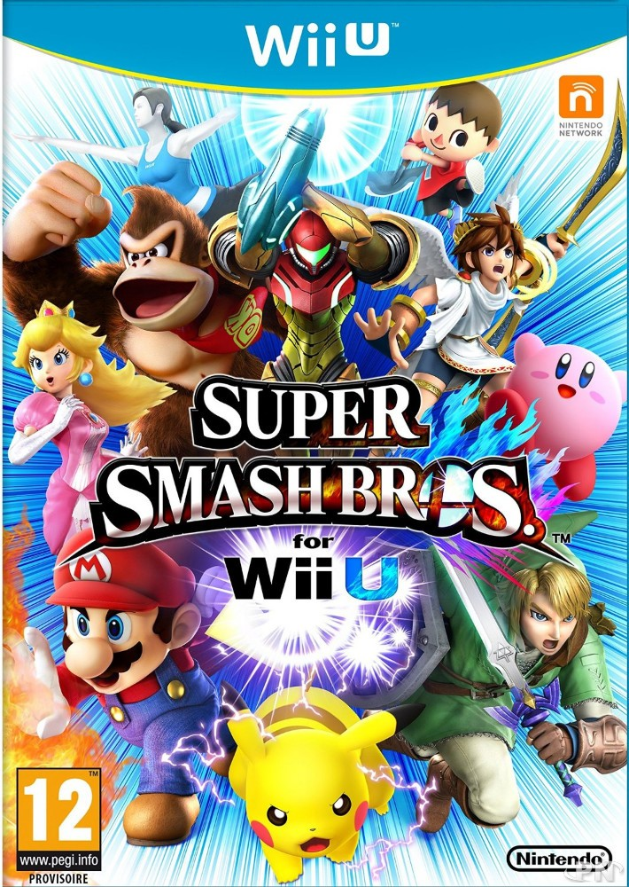 Jaquette Smash bros for Wii U (Euro)