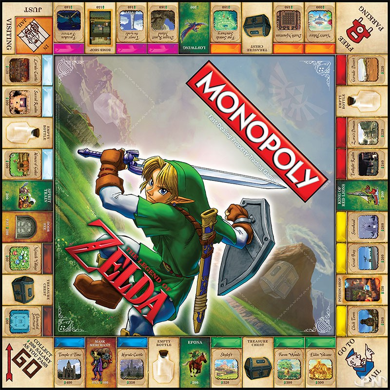Le plateau du jeu Monopoly Zelda