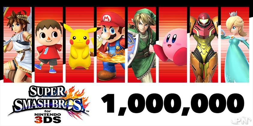 1 000 000 d'exemplaires vendus pour Smash Bros for 3DS