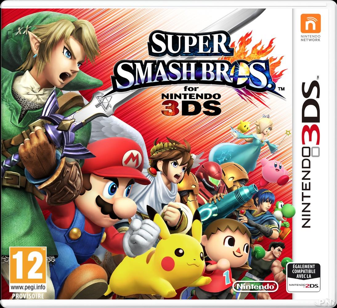 Jaquette Smash Bros 3DS, version européenne