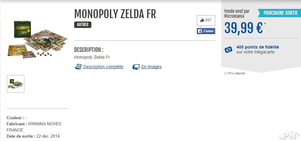 Monopoly Zelda FR Micromania