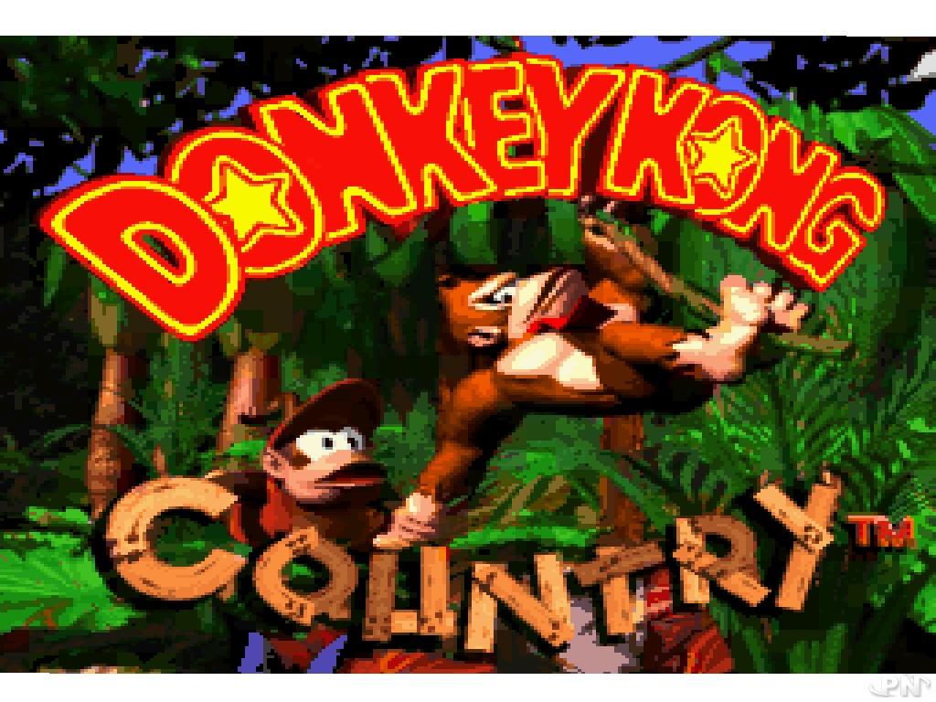 Ecran titre de Donkey Kong Country (Super Nintendo)
