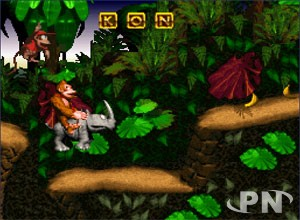 Rambi le rhino sympa de Donkey Kong Country (SNES)