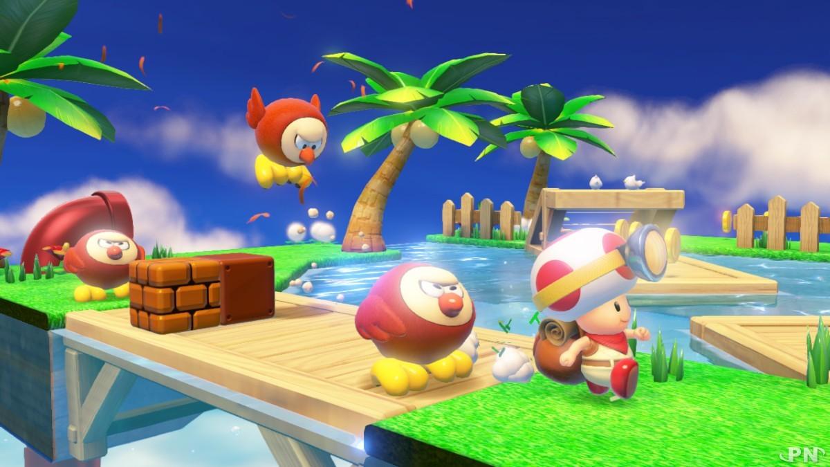 Toad ne peut sauter, il lui faut donc ruser pour venir à bout de ses ennemis !