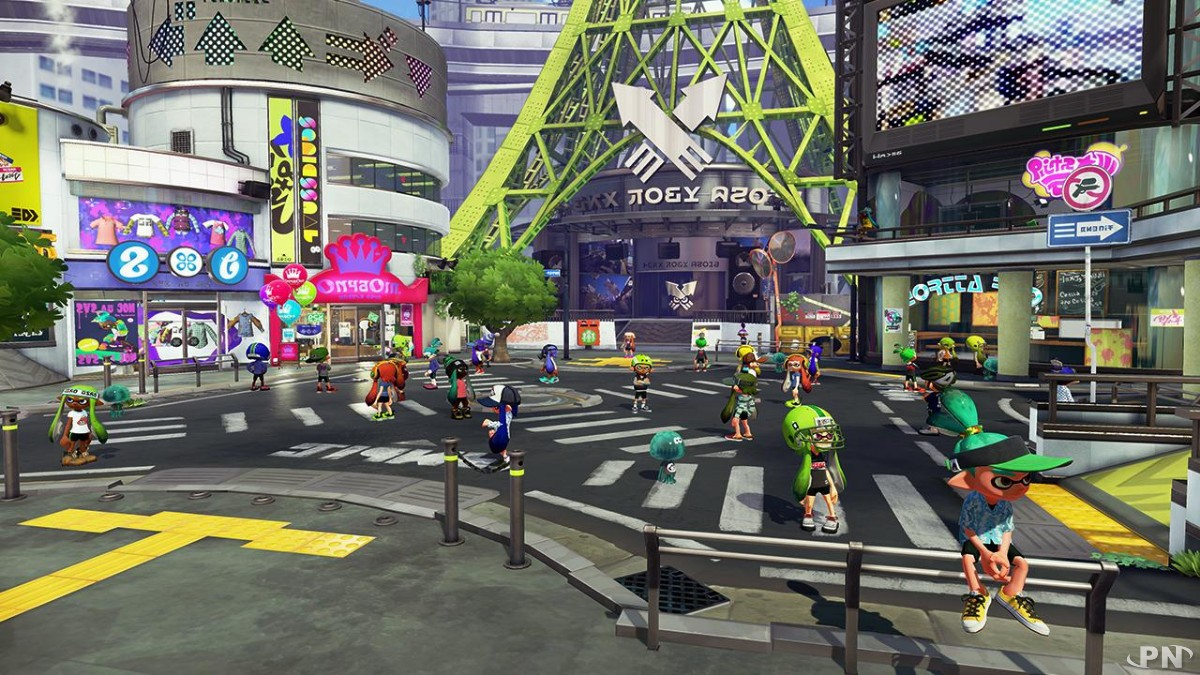 Bienvenue à Chromapolis, le hub du jeu Splatoon sur Wii U