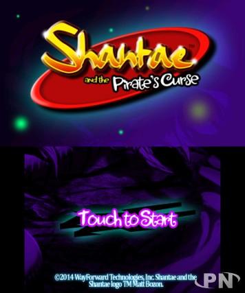 écran d'accueil de Shantae and the Pirate's Curse sur 3DS