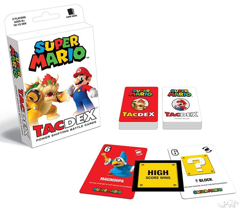Les deux lots de 47 cartes à jouer du TACDEX Super Mario