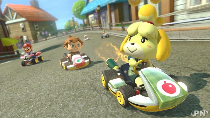 Marie d'Animal Crossing dans Mario Kart 8