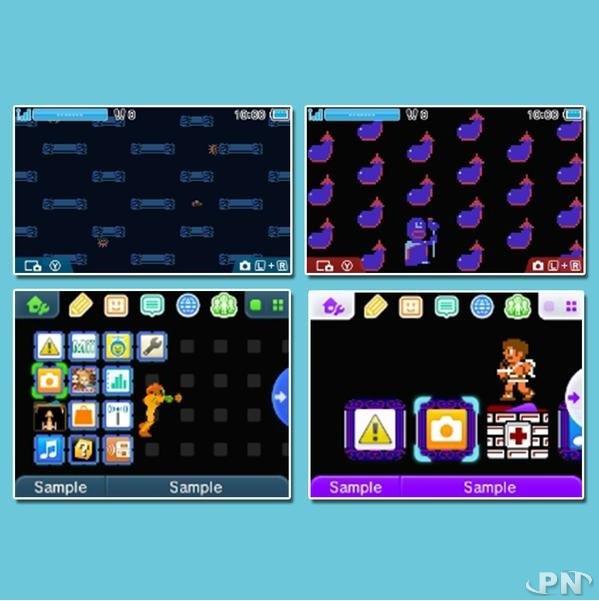 Thèmes 3DS Metroid et Kid Icarus