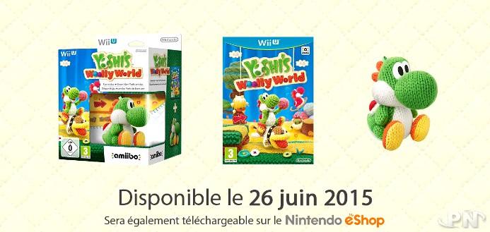 Yoshi's Woolly World sur Wii U : jaquettes européennes