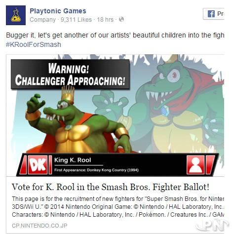 King K.Rool dans Smash Bros ? Playtonic veut y croire !