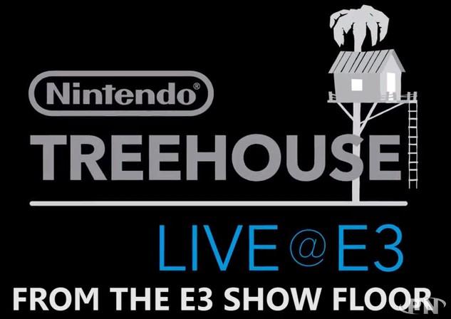 Les Nintendo Treehouse depuis le stand de Nintendo