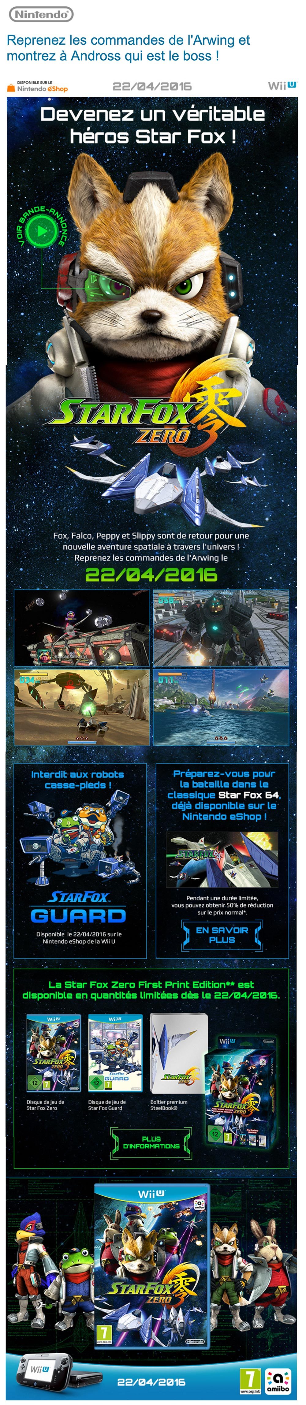 Newsletter Star Fox Zero de Nintendo