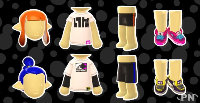 Vêtements Splatoon pour Mii