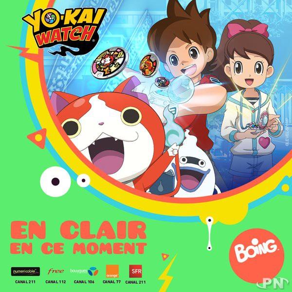 Yo-kai watch gratuit sur Boing jusqu'au 15 juin maximum