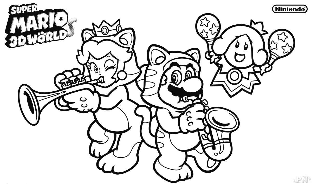 a with coloriage mario