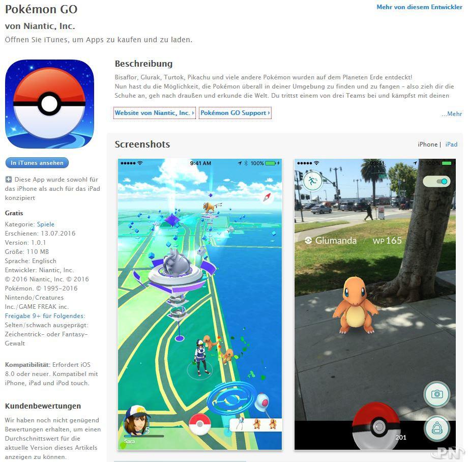 Pokémon Go : sortie en Allemagne sur l'AppStore