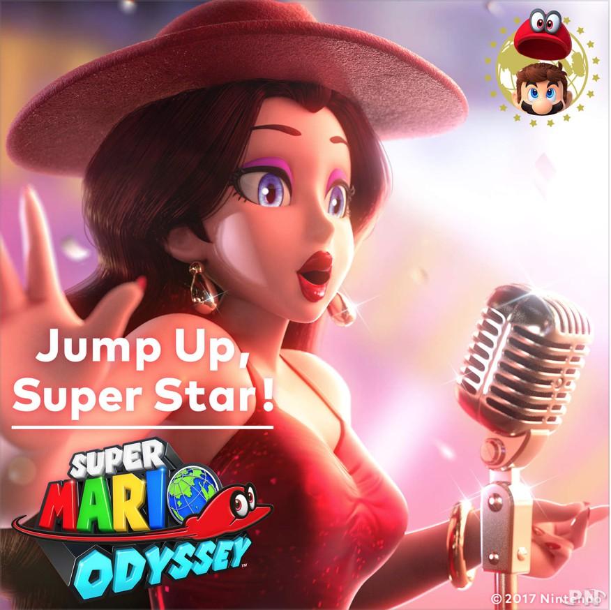 Pochette thème Super Mario Odyssey, chanson Jump Up Superstar (Nintendo)