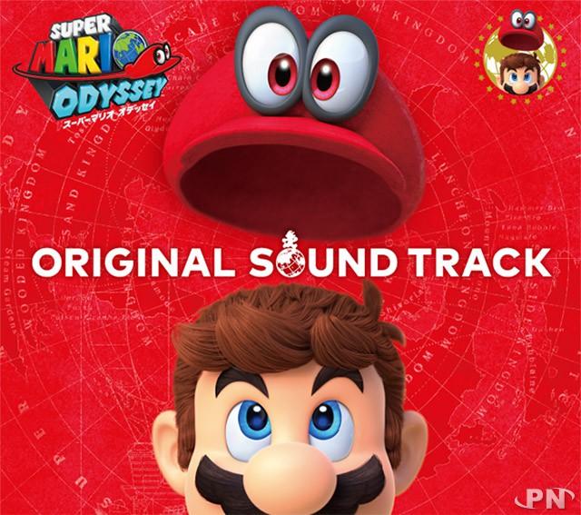 jaquette avant de la bande originale de Super Mario Odyssey