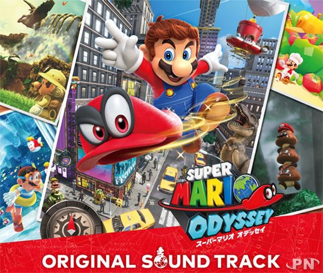 jaquette arrière de la bande originale de Super Mario Odyssey