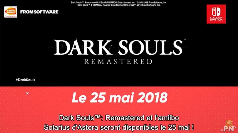 Date de sortie de Dark Souls Remastered Switch