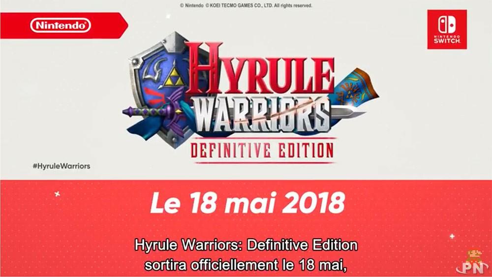 Date de sortie Hyrule Warriors Definitive Edition Switch