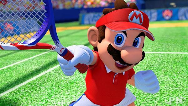 Mario Tennis Aces avec la tenue spéciale offerte à tous les joueurs essayant la démo