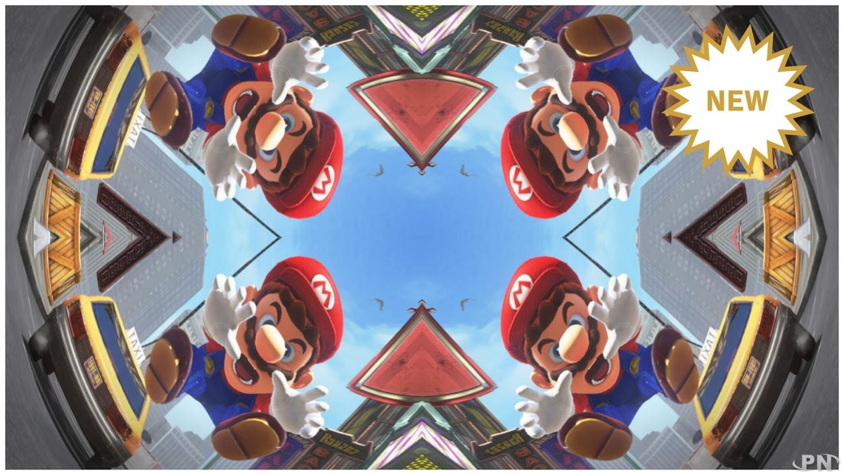 Le filtre photo kaleidoscope dans Super Mario Odyssey
