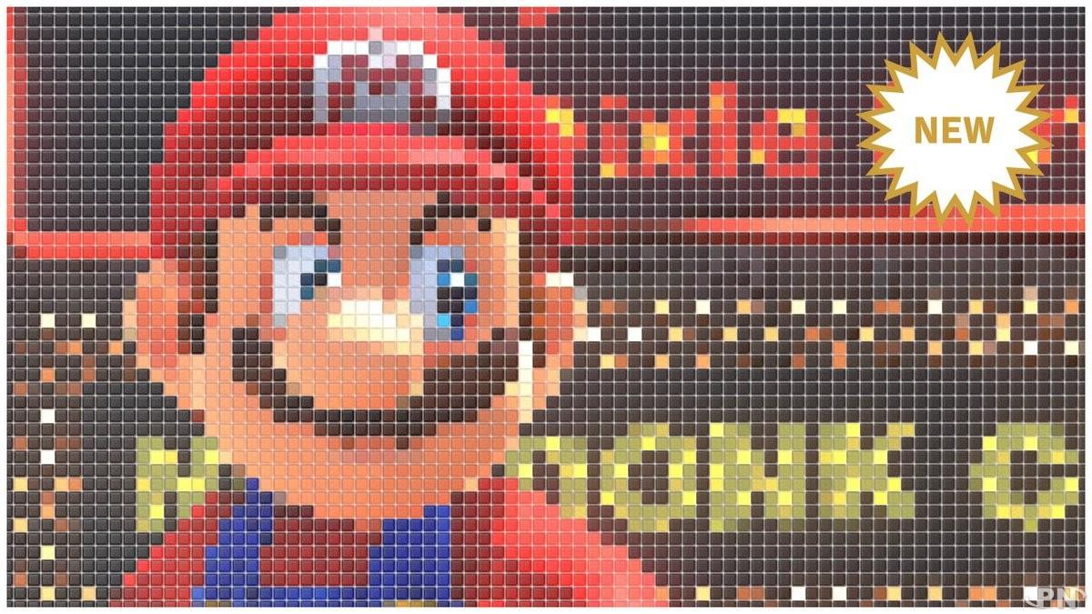 Le filtre Tuiles manga dans Super Mario Odyssey