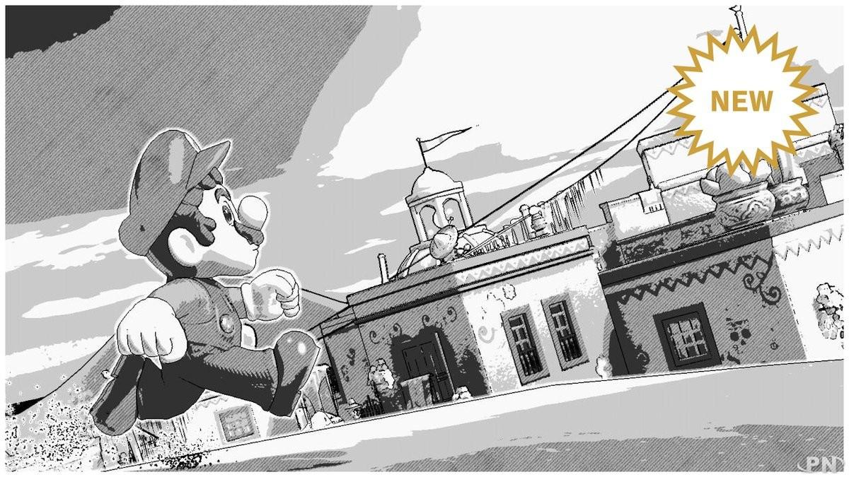 Le filtre photo manga dans Super Mario Odyssey