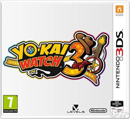 jaquette française de Yo-Kai Watch 3 (PEGI 7)