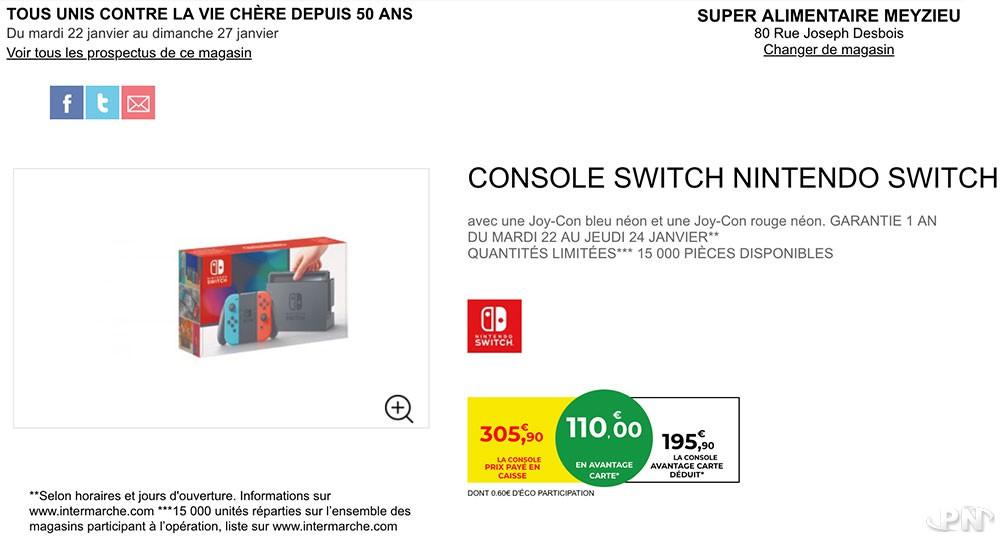 Nintendo Switch Intermarché promotion