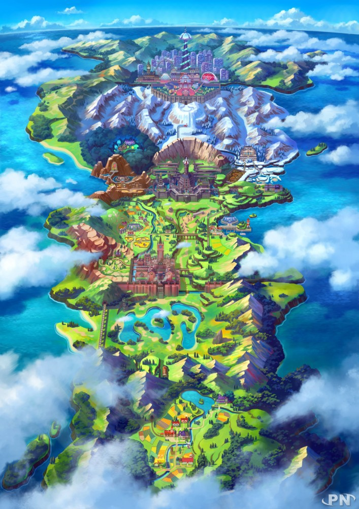 La région de Galar dans Pokémon Epée et Bouclier