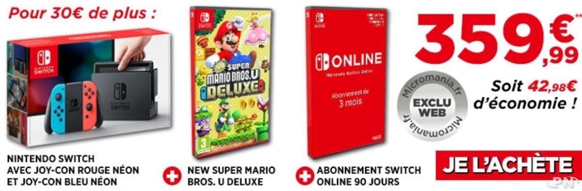 4e98ade6f2a Bons plans et promos Nintendo Switch : La Switch à 299.99 € avec le ...