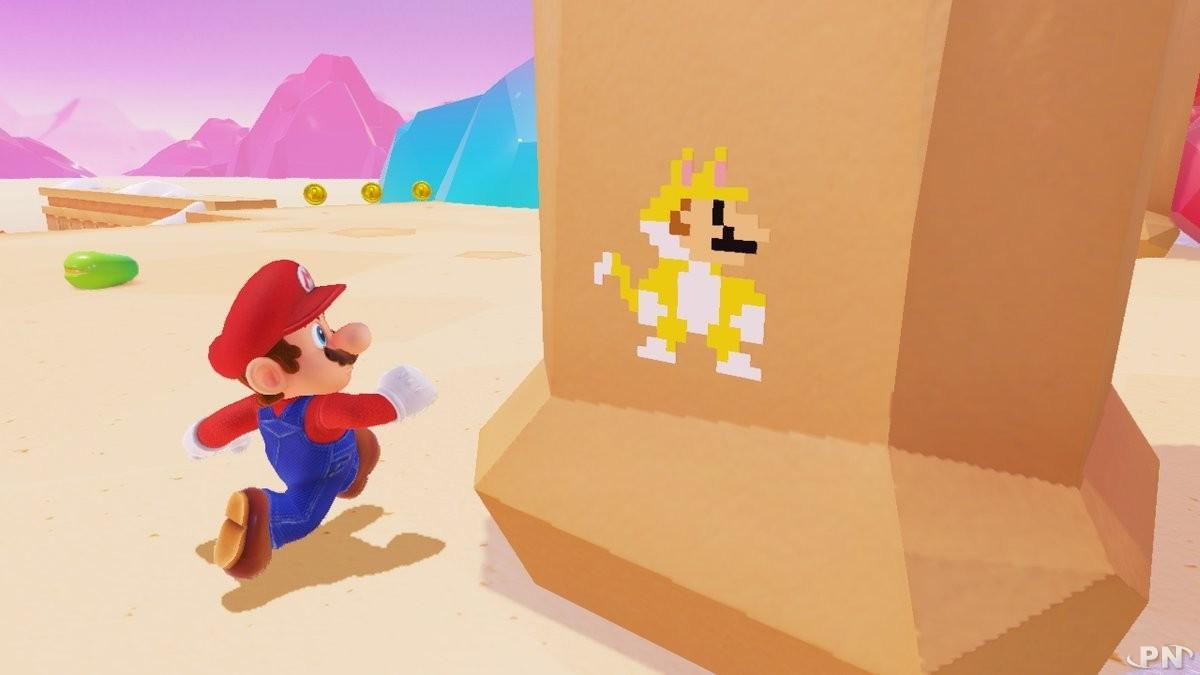 Nouveaux sprites Mario Chat avec la mise à jour VR de Super Mario Odyssey