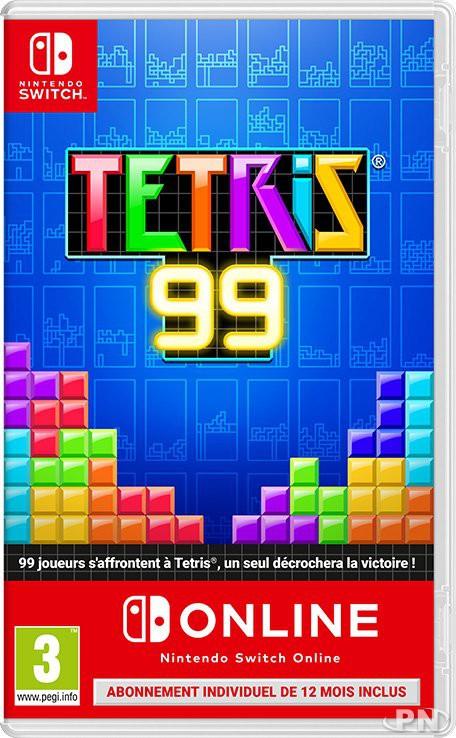 Jaquette de Tetris 99 avec abonnement 1 an Nintendo Switch Online