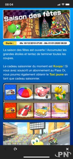 Annonce de la saison des fêtes dans Mario Kart Tour