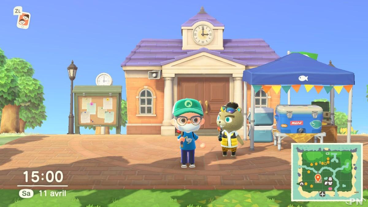 Tournoi de pêche Animal Crossing New Horizons