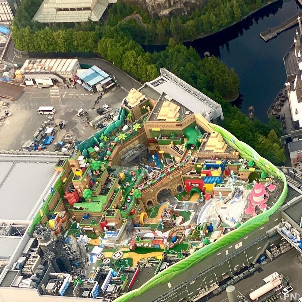 Super Nintendo World : photo aérienne du chantier