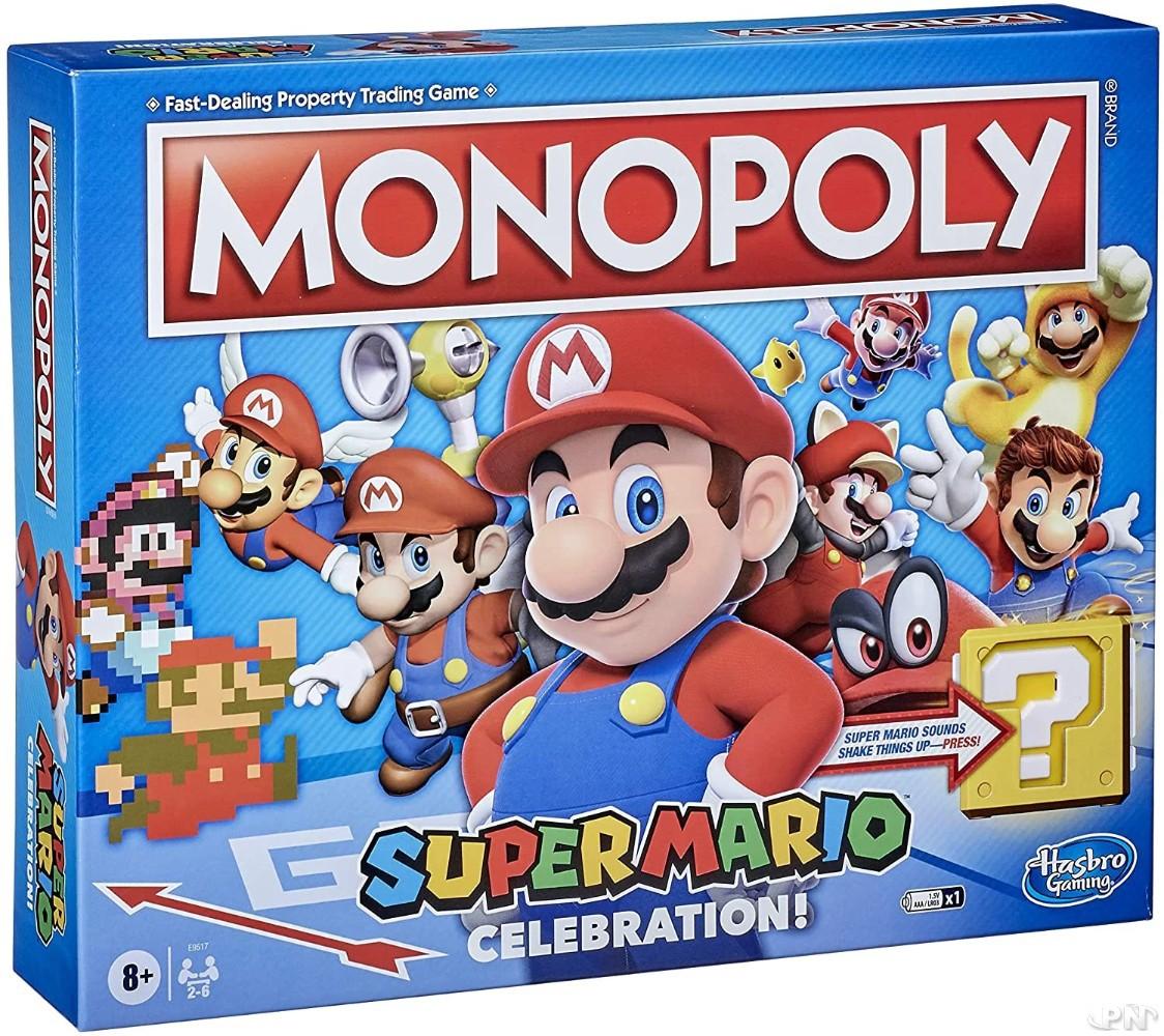 Boite du jeu de société Hasbro Monopoly Super Mario Edition