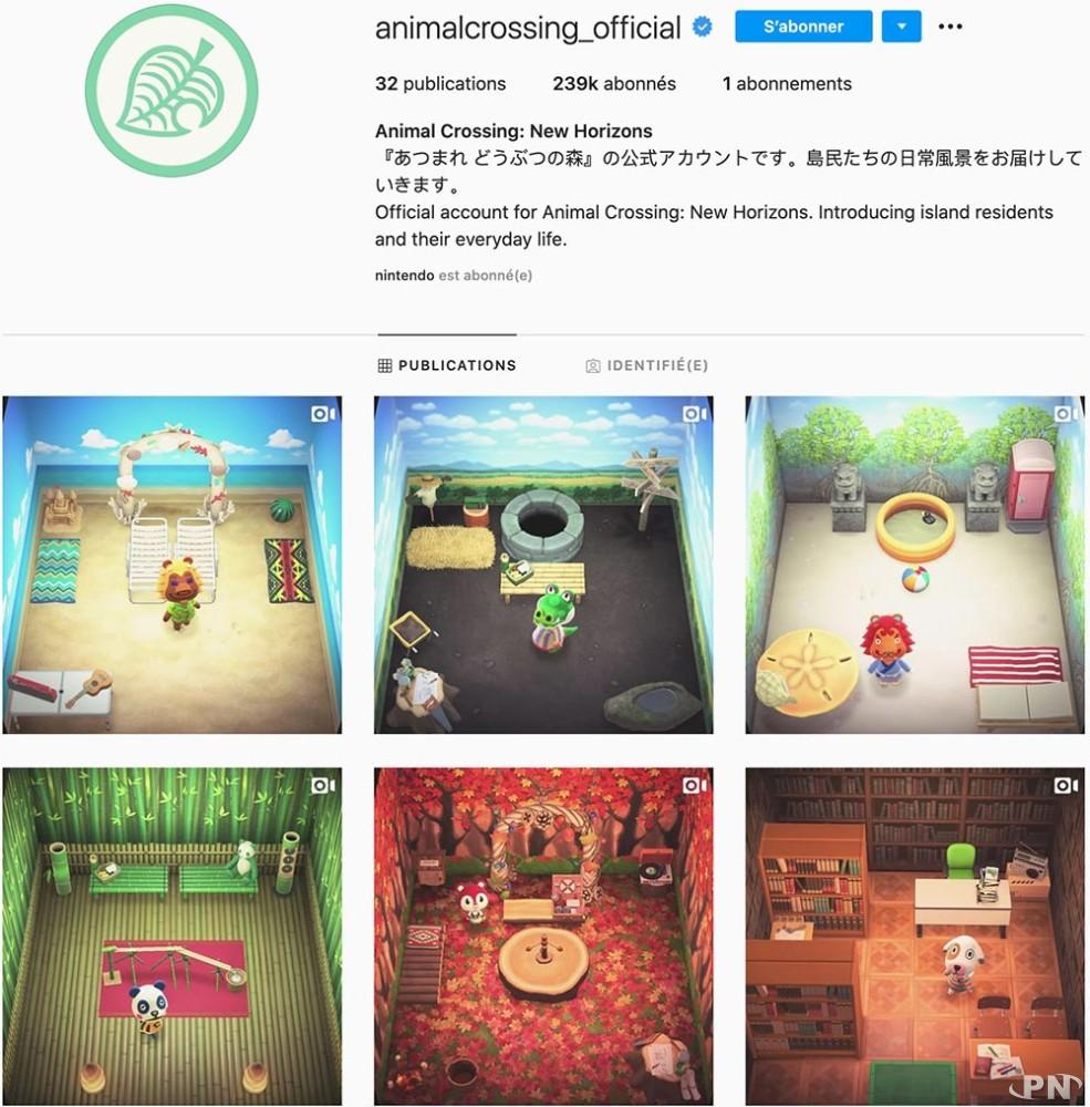 Compte Instagram officiel Animal Crossing